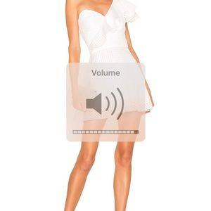 Amanda uprichard Mckinnon dress in white. XS